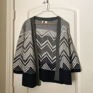 Grey woven sweater